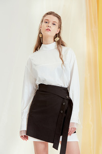 17SS silky long blouse