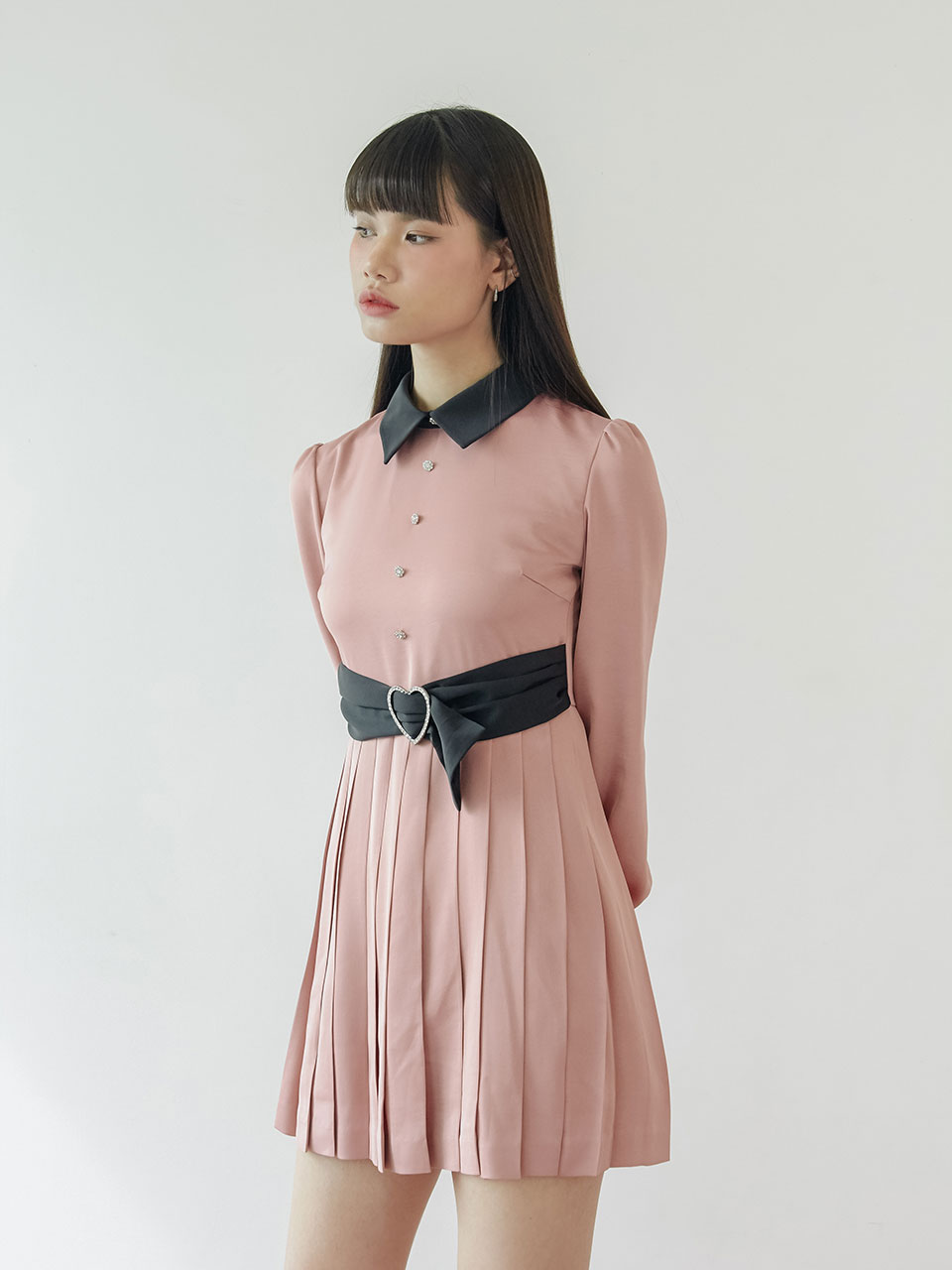 20SS Heart draped dress (pink)
