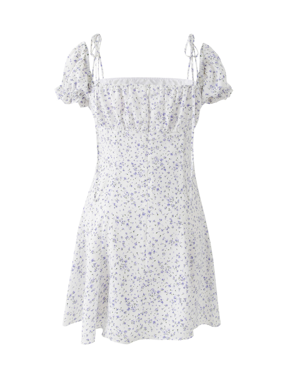 Puff mini dress (flower)